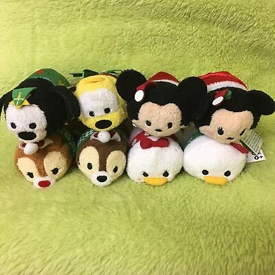 Disney Christmas Tsum Tsum Set of 8 NWT - Mickey Minnie Chip Dale Donald Daisy