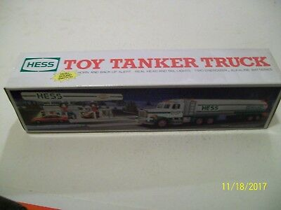 1990 Hess Toy Tanker with dual sound switch. New in the box