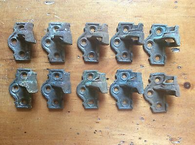 "SET OF 8 ANTIQUE CAST IRON SHUTTER HINGES, ONE SIDE ONLY, 2 1/8"" x 1 3/4"" x 1"""