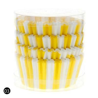 Yellow 100PCS Paper Cupcake Case Wrapper Muffin Liners Baking Cups DF