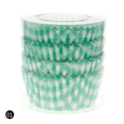 Light Green 100PCS Paper Cupcake Case Wrapper Muffin Liners Baking Cups DF