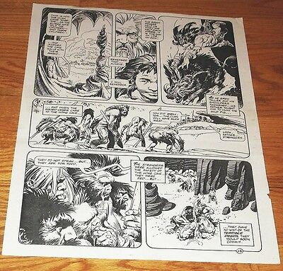 B&W Stat proof art 14.5 X 19 Joe Kubert Tor #2 Page 28 Marvel Epic Comics