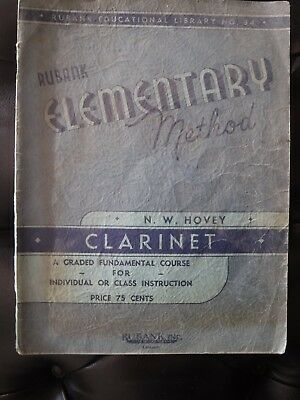 Rubank Elementary Method for Clarinet (No. 34) 1933 - 48 pages