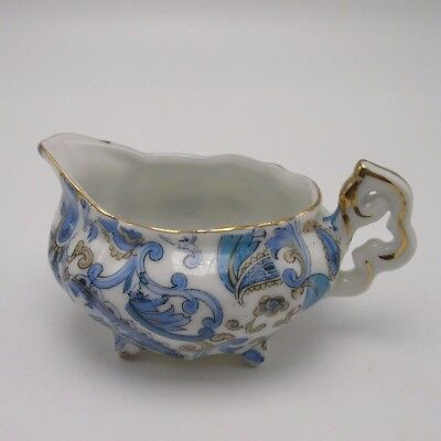 Lefton Blue Paisley small Creamer Hand painted