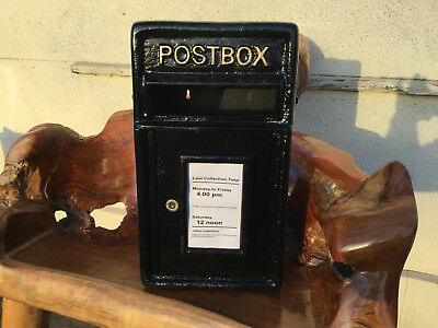 POST OFFICE LETTER BOX CAST IRON  Black Post Box