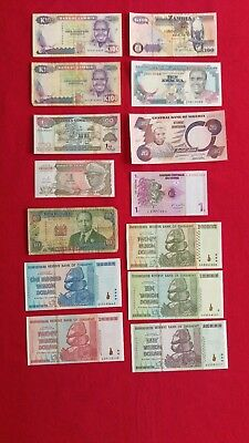 Lot Of 14 African Bank Notes Various Cu