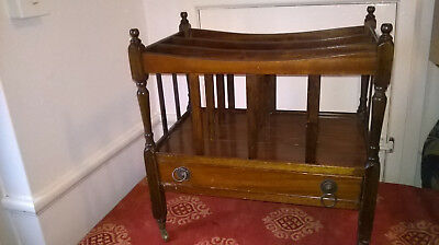 Reproduction Antique Canterbury / Music / Magazine Rack With Drawer
