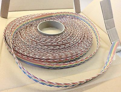 3M Scotchflex Twisted Flat Ribbon Cable 1700/14 14-Conductor 28AWG 75 feet