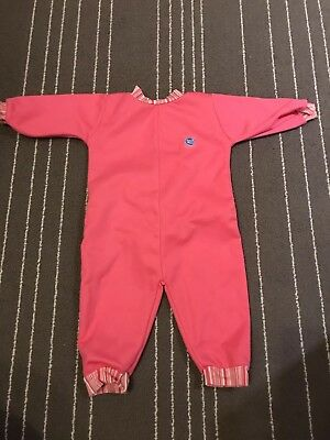 Baby Girls Splash About Warm In Swimsuit Pink Size L - barely worn
