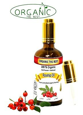 Organic Rosehip Oil Cold Pressed Unrefined,Certified, Premium Quality 10 ml