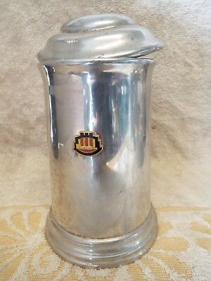 Vintage ABERCROMBIE & FITCH ENGLISH PEWTER/GLASS MUG  #482