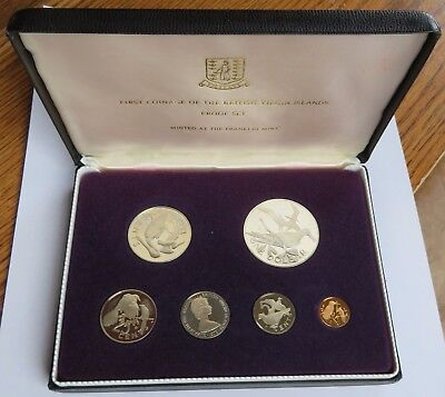 1973 1st Coinage of the British Virgin Islands Proof Set, Silver Dollar (091509S