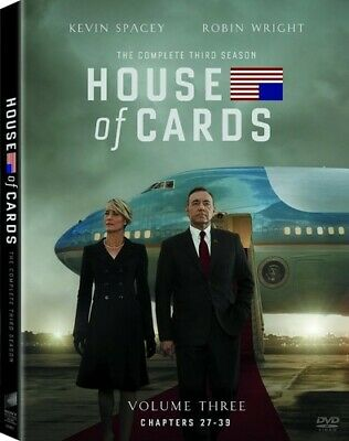 House of Cards: The Complete Third Season (DVD, 2015, 4-Disc Set) new sealed
