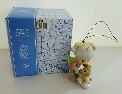 Precious Moments 710021 Clearing A Path To You Porcelain Christmas Ornament