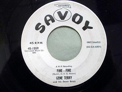 Gene Terry/Ronnie Dee Promo 45 Savoy 1559 E- Cond. Fine Fine/This Should Go On F
