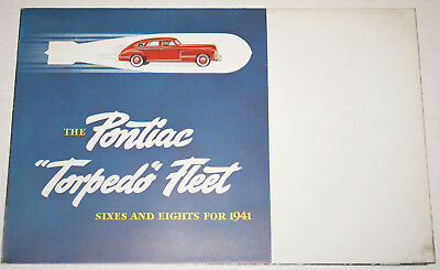 1941 PONTIAC Torpedo Fleet 6 & 8  Full Line saver fldr ORIGINAL sales Brochure