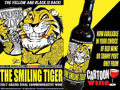 2017 RICHMOND TIGERS Grand Final Victory Commemorative Wine by CARTOONwine