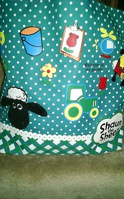 """Shaun the Sheep Large Tote Bag """"Welcome to my Garden"""""""