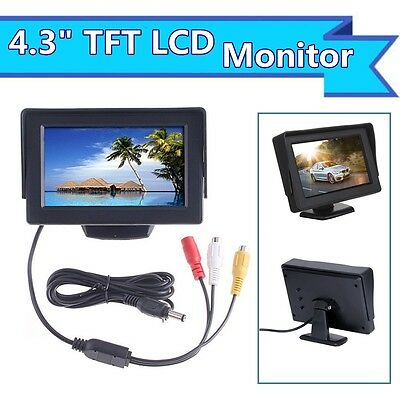 """4.3"""" In Car Use TFT LCD Camera Monitor Display For Vehicle Camera DVD VCR Input"""