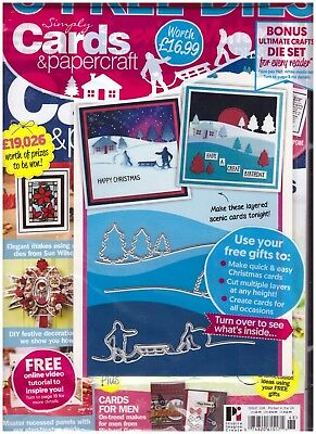 Simply Cards & Papercraft Issue 168 Christmas Themed New
