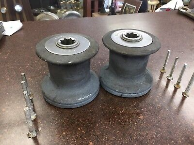 Pair of Barient 10 Single Speed Winches In Good Working Condition