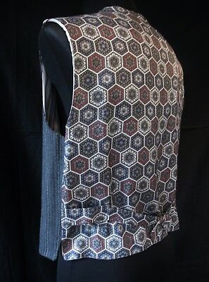 retro Weste Edwardian Alcapone Art Deco Charleston Dandy Jazz Swing Gilet Salsa