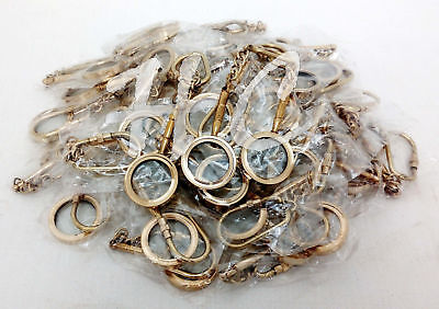 Lot of 50 Magnifier Key Rings Necklace Style Brass Magnifying Glass Key Chain