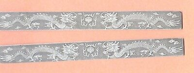 Vintage Chinese Silver  Scroll Weight Paper Weight   Dragons  Set Of Two