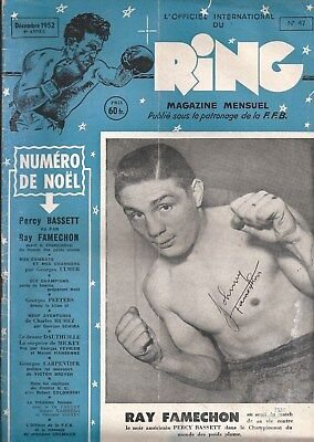 RING MAGAZINE 1952 (Rare French Edition) - Signed by JOHNNY FAMECHON