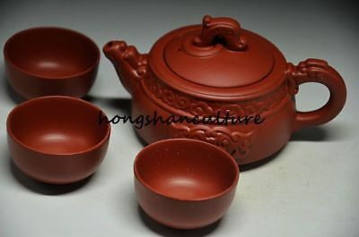 Fantastic Chinese Zisha Beast Teapot Set With Cups