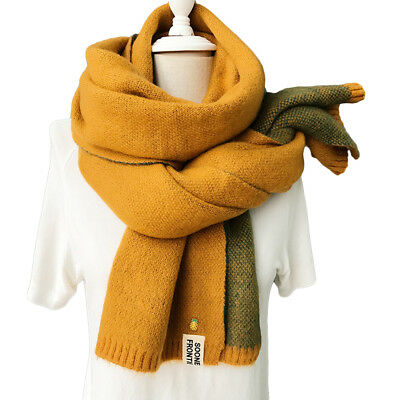 EP_ Cashmere Knitted Scarf Shawl Pineapple Women Winter Neck Wrap Warmer Conveni