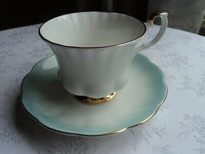 Royal Albert orphan cup and saucer - Val D'or cup and 'Rainbow' saucer - 1960's