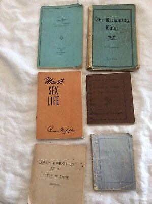 6 Assorted Tijuana Bibles 1930s Ass't sizes - All Pages Good