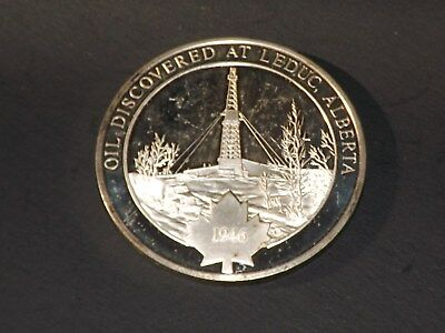 Canada Oil Discovered at Leduc Alberta Silver Medal