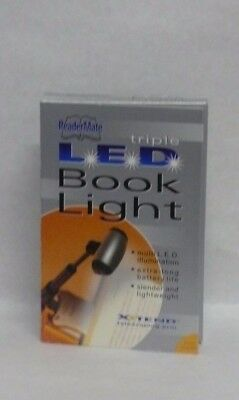 Reader Mate Triple LED Book Light Xtend Telescoping Arm by Gold Crest
