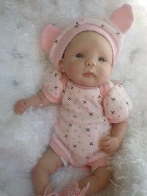 Beautiful 8.5 Inch Polymer Clay Doll Hand Sculpted By Sharon Ullrich