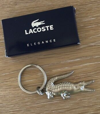 🙀 NIB Lacoste Crocodile  Metal Key Chain 🎁 HOT STOCKING STUFFER 🎁