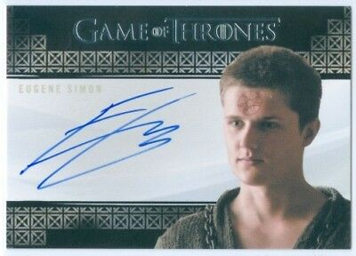 "Eugene Simon ""lancel Lannister Autograph"" Game Of Thrones Valyrian Steel"
