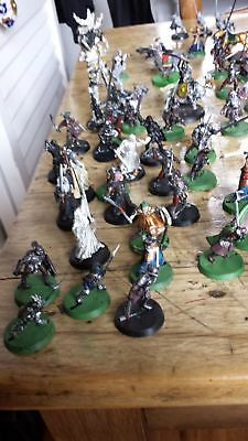 Warhammer Lord of the rings figures  (approximately 100 figures)