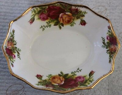 """Royal Albert - Small Shaped Dish -  """"Old Country Roses"""" - ****Made in England***"""