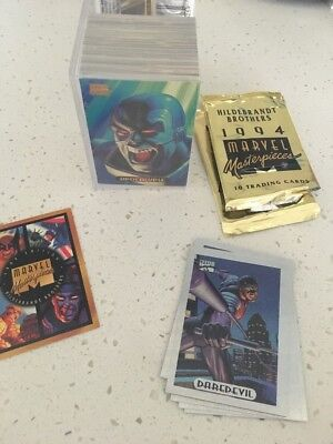 Marvel Masterpieces 1994 Trading Cards Complete Base Set Plus 5x Holofoil