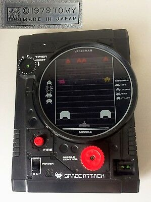 RARE retro 1970's EARLY TOMY JAPAN 'SPACE ATTACK' HANDHELD ELECTRONIC GAME 1979