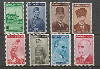 8 Mint Unhinged Stamps  From turkey. see photo.