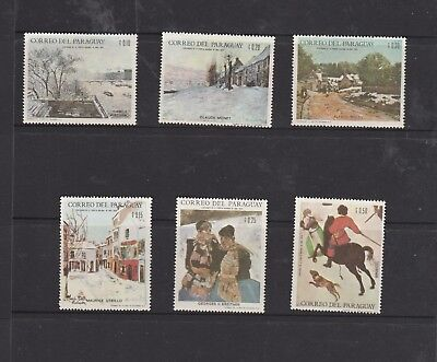 Paraguay. 1968 Winter Olympic Games Grenoble. Set of 6 MUH Stamps. See Photo.