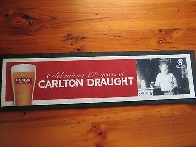 Carlton Draught Rubber Backed Bar Runner Mat With Old Man Used