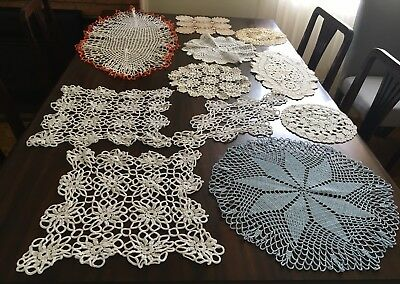 CROCHET 20 Assorted Doilies  - Lovely Cond