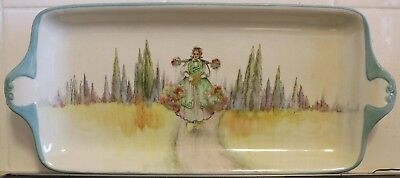 """Royal Doulton SeriesWare - Very Large Sandwich Tray - """"Flower Seller"""" - D3589..."""