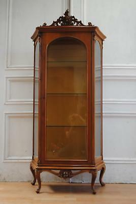 Lovely Vintage French Provincial Display Cabinet Armoire
