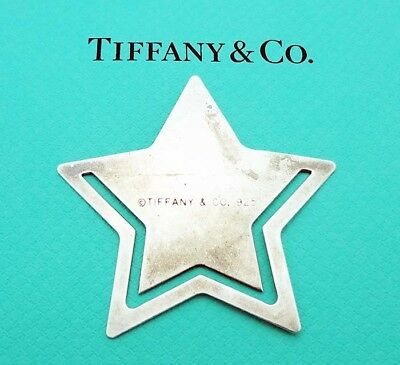 "ESTATE!!! Tiffany & Co. 2-1/8"" by 2-1/8"" Star Bookmark in Sterling Silver"