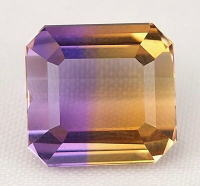 TOP : Echter Bi - Color Ametrin 9,54 Ct Augenrein ( Ametrine )